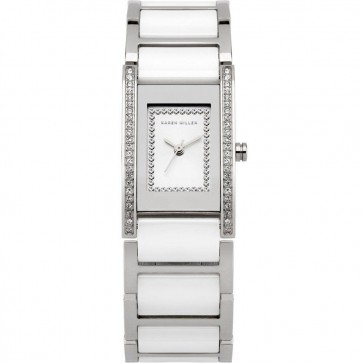 Karen Millen Ladies Whtie Dial Stainless Steel & Ceramic Watch K121