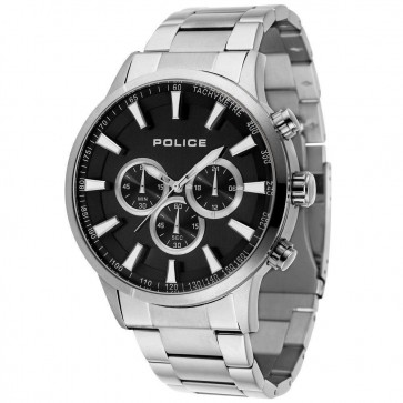 Police Mens Gents Momentum Quartz Chronograph Wrist Watch Black Dial15000JS/02M