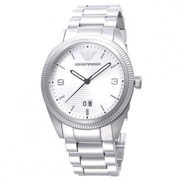 Emporio Armani Mens Watch Stainless Steel Bracelet Silver Dial AR5894