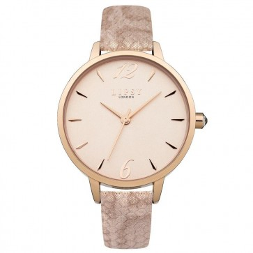 Lipsy Ladies Womens Wrist Watch Pink Strap Rose Gold Dial LP449