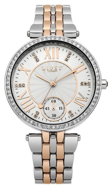 Lipsy Womens Ladies Wrist Watch Gold Dial Silver Face LP290