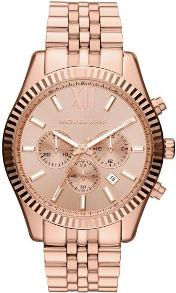 Michael Kors Mens Chronograph Watch Rose Gold Bracelet MK8319