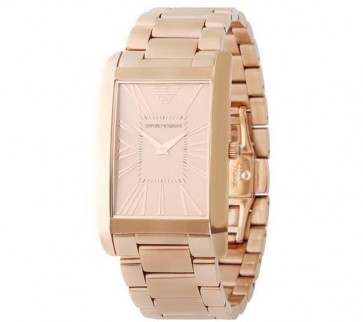 Emporio Armani Ladies Watch Gold Bracelet Gold Dial AR2062