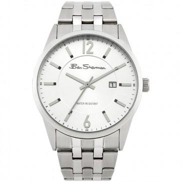 Ben Sherman Mens Carnaby Wrist Watch Silver Strap White Dial BS113
