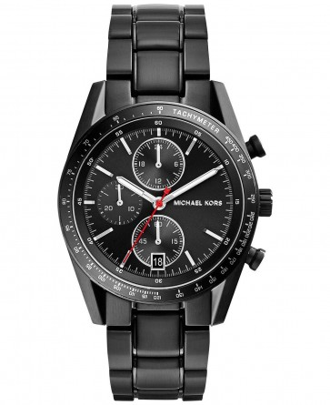 Michael Kors Mens Chronograph Watch Black Strap Dial MK8386