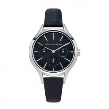 French Connection Ladies Stainless Steel Wrist Watch Blue Face FC1273U