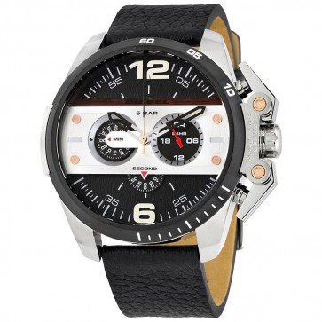 Diesel Mens Oversize Ironside Chronograph Watch Black Strap DZ4361