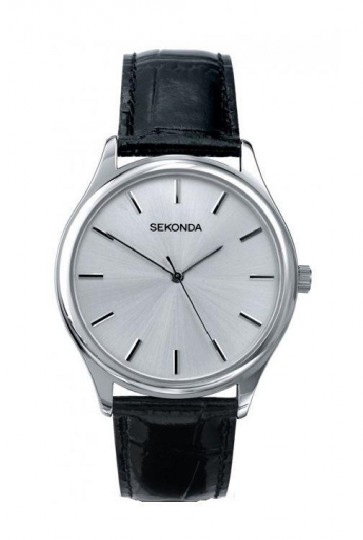 Sekonda Gents Classic Black Leather Watch 3099