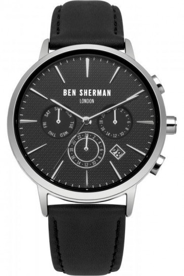 Ben Sherman Mens London Watch Black Dial Strap WB028BA