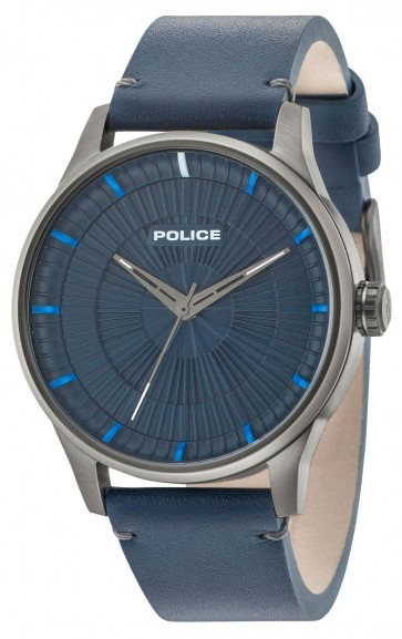 Police Mens Gents Jet Blue Dial Wrist Watch 15038JSU/03