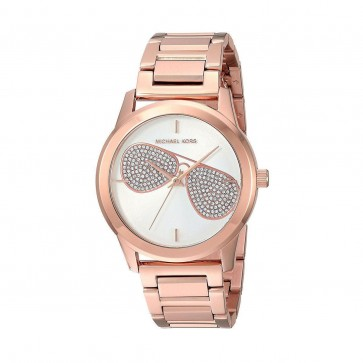 Michael Kors Hartman Womens Ladies Watch Rose Gold Stainless Steel Bracelet Rose Gold Dial MK3673