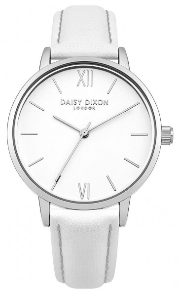 Daisy Dixon Ladies Womens Tara Wrist Watch Silver Dial White Face DD029W