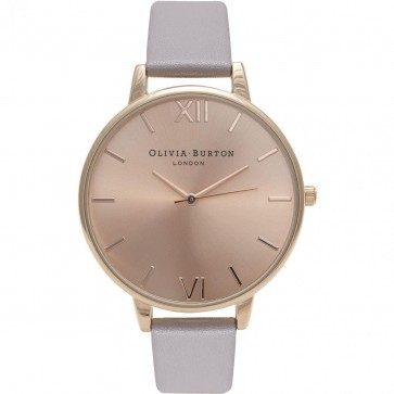 Olivia Burton Womens Ladies Big Dial Wrist Watch Rose Dial OB15BD58