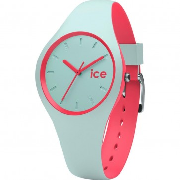 ICE Ladies Womens Duo Mint Coral Watch Turquoise Strap 001490