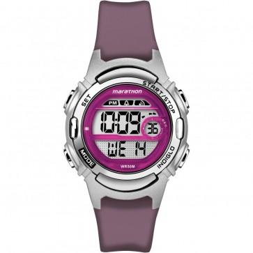 Timex Womens Ladies Marathon Quartz Watch Purple Silicone Strap TW5M11100