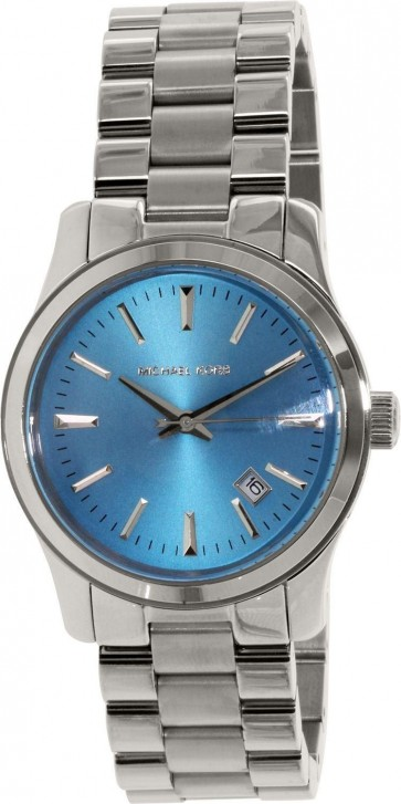 Michael Kors Runway Ladies Watch Stainless Steel Bracelet Blue Dial MK5914