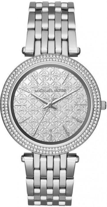Michael Kors Darci Ladies Watch Silver Bracelet Silver MK Logo Dial MK3404