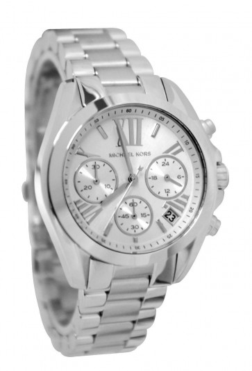 Michael Kors Bradshaw Ladies Chronograph Watch Silver Bracelet and Dial MK6174