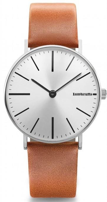 Lambretta Mens Wrist Watch Cesare 42 Silver Cognac 2184SIL