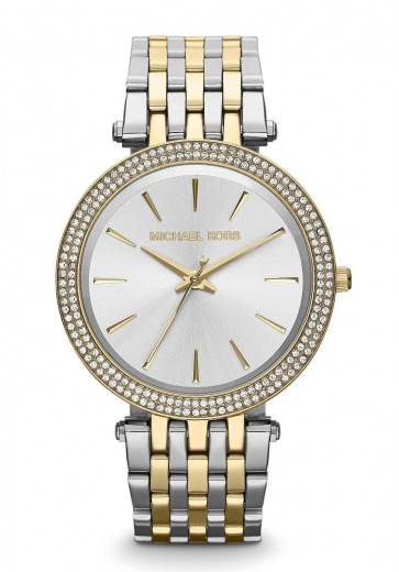 Michael Kors MK3215 Ladies Darci Silver & Gold Tone Two Tone Bracelet Watch