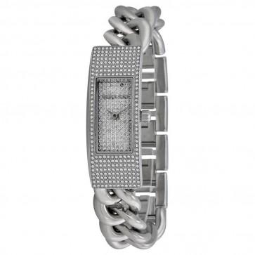 Michael Kors Hayden Ladies Watch Stainless Steel Crystal Paved Dial MK3305