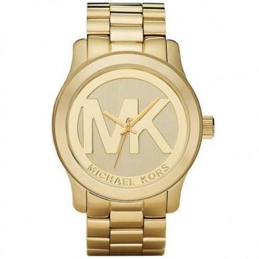 Michael Kors Ladies Watch Gold Bracelet MK Logo Dial K5786