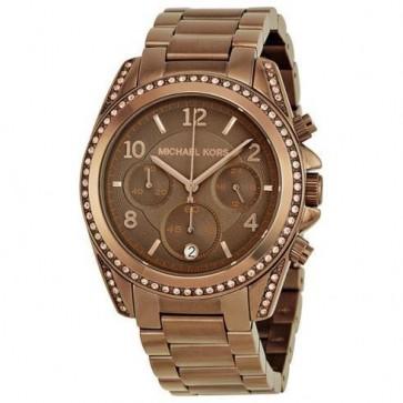 Michael Kors Womens Ladies Blair Wrist Watch Brown Stainless-Steel Dial MK5493
