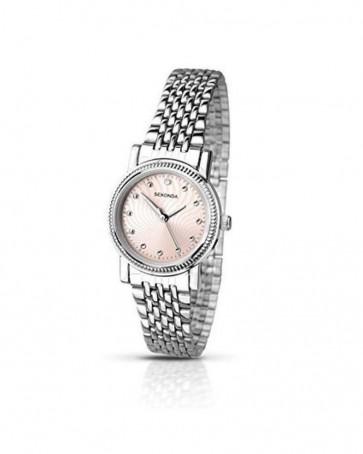 Sekonda Womens Ladies Wrist Watch Pink Face Silver Strap 2006