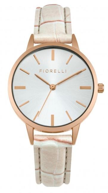 Fiorelli Ladies Womens Watch Pink Strap White Face SFO004CRG