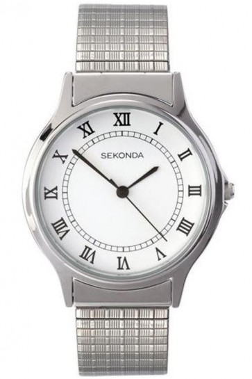 Sekonda Mens  Watch Stianless Steel Strap White Dial SK3022b