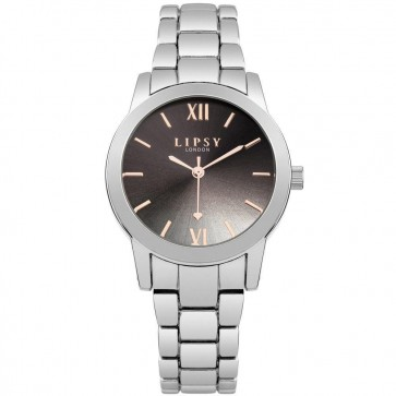 Lipsy Womens Ladies Wrist Watch Silver Dial Black FaceSLP004SM
