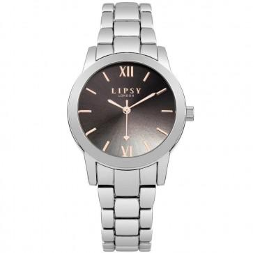 Lipsy Womens Ladies Wrist Watch Silver Dial Black FaceSLP004SM