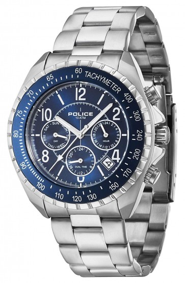 Police Gents Mens Navy V Wrist Watch Blue Face  P14343JS-03M