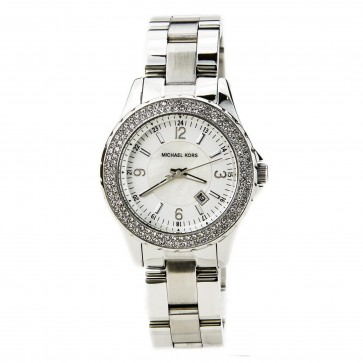 Michael Kors Womens Madison Wrist Watch White Face Silver Dial MK5401