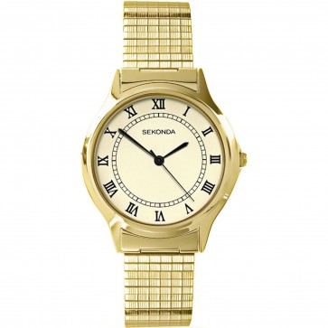 Sekonda Mens Watch Cream Dial Gold Tone Bracelet 3024B