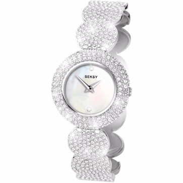 Sekonda Ladies Womens Wrist Watch Silver Strap Mother Of Pearl Face 4851
