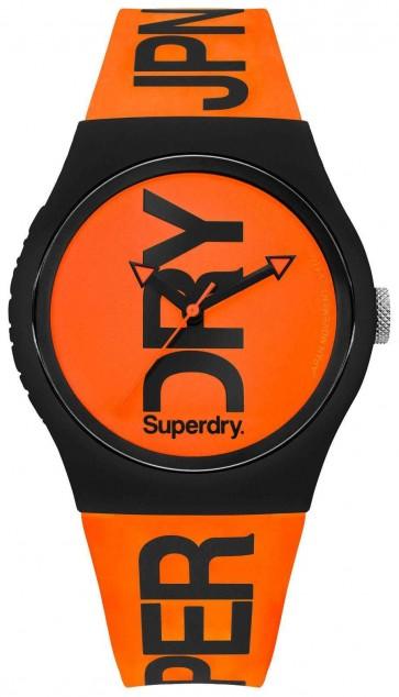 Superdry Unisex Ladies Womens Orange Urban Wrist Watch Silicone SYG189OB