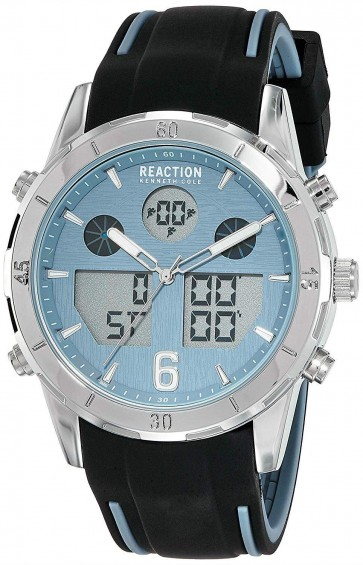 Kenneth Cole Reaction Black & Blue Mens Gents Wrist Watch RK50604002