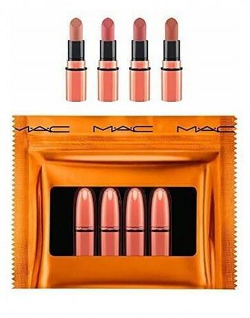 Mac 4 Piece Lipstick Set - Nudes Shiny Pretty Things