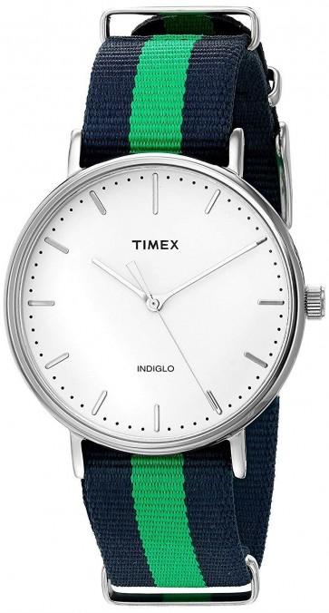 Timex Unisex Weekender Fairfield Wrist Watch White Dial TW2P90800