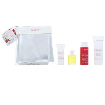 Clarins Exclusive Body Grab & Fly Kit with Body Scrub 30ml & Tonic