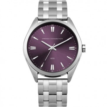 French Connection Ladies Womens Purple Wrist Watch FC1305VSM