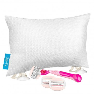 Gillette Venus Comfortglide Spa Breeze Razor Gift Set inc 3 Blades & Bath Pillow
