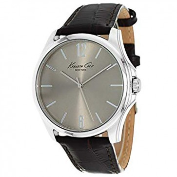 Kenneth Cole Mens Gents Brown Leather Mineral Wrist Watch KCW1038