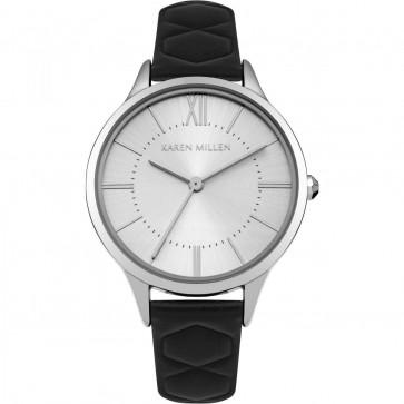 Karen Millen Womens Ladies Wrist Watch White Strap KM170B