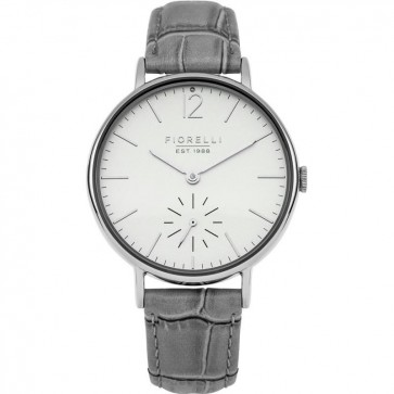 Fiorelli Women's Quartz Watch with Grey Leather Strap FO018ES