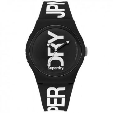 Superdry Urban XL Black Mens Womens Unisex Wrist Watch SYG189BW