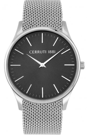 Cerruti 1881 Mens Gents Silver Designer Wrist Watch CRA26201