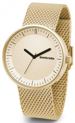 Lambretta Mens Gents Wrist Watch Franco Mesh Gold 2165GOL