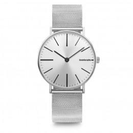 Lambretta Cesare 42 Mesh Silver Mens Gents   Wrist Watch